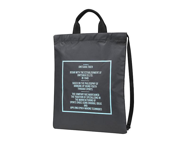 DRAWSTRING BAG DARK GREY/PALE BLUE 1 FT