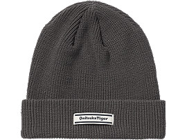 Front Top view of BEANIE, DARK GREY