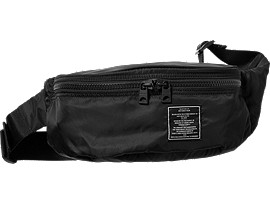 Front Top view of WAIST POUCH, PERFORMANCE BLACK