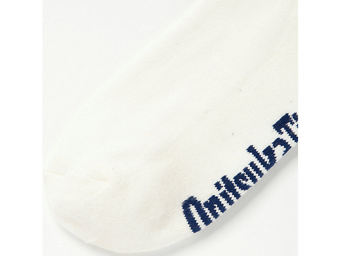 Back view of MIDDLE SOCKS, REAL WHITE/TAI-CHI YELLOW