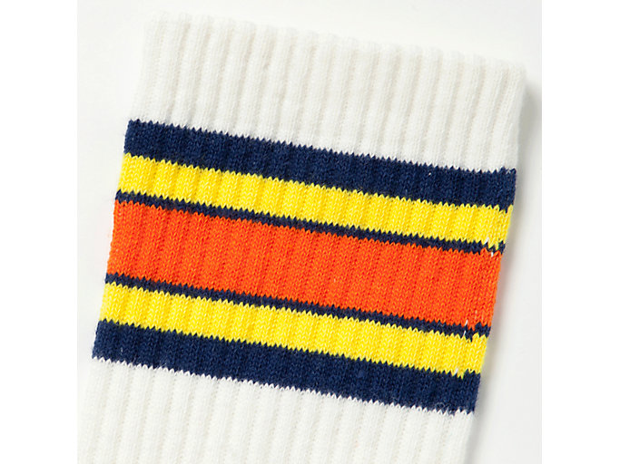 Alternative image view of MIDDLE SOCKS, REAL WHITE/TAI-CHI YELLOW