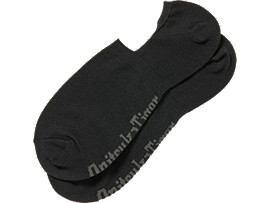 Front Top view of INVISIBLE SOCKS, PERFORMANCE BLACK/KHAKI