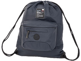 Front Top view of LARGE DRAWSTRING BAG, PERFORMANCE BLACK