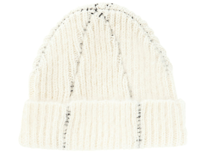 Back view of BEANIE, REAL WHITE