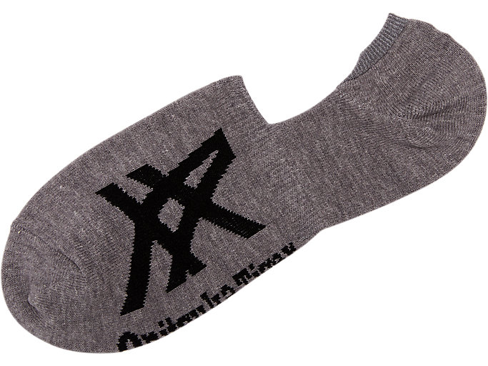 Side view of Invisible Sock, FEATHER GREY/PERFORMANCE BLACK
