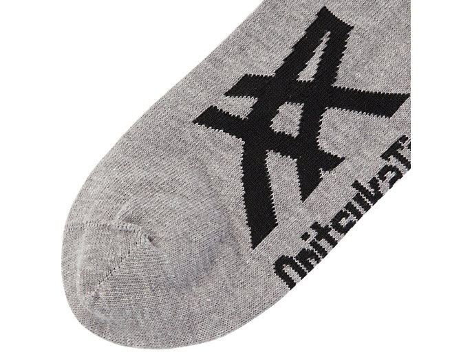 Back view of Ankle Sock, FEATHER GREY/PERFORMANCE BLACK