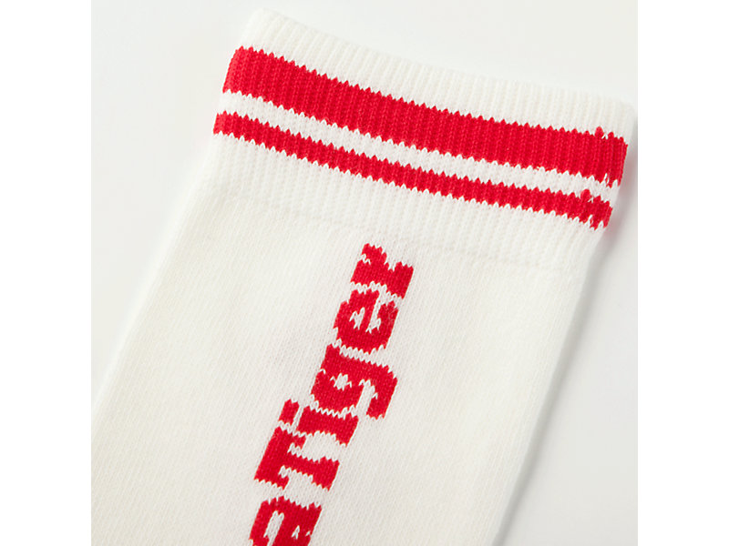 MIDDLE SOCK WHITE/RED 13 Z