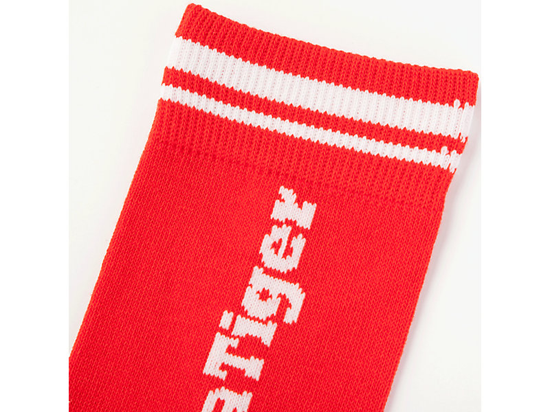 MIDDLE SOCK RED/WHITE 13 Z