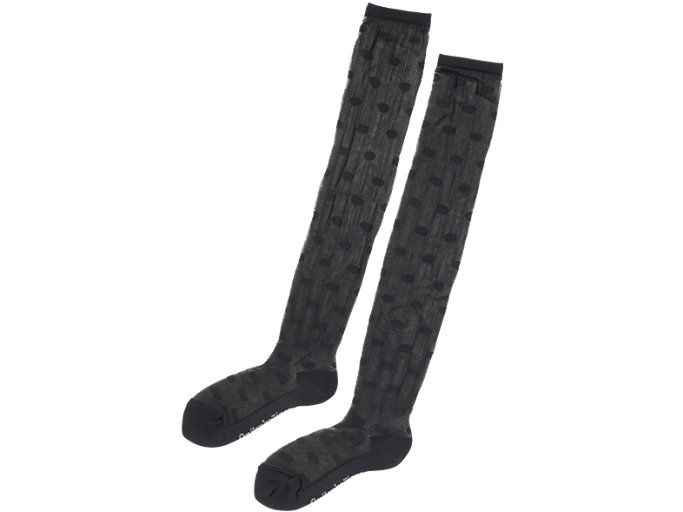Front Top view of WS SOCK, PERFORMANCE BLACK