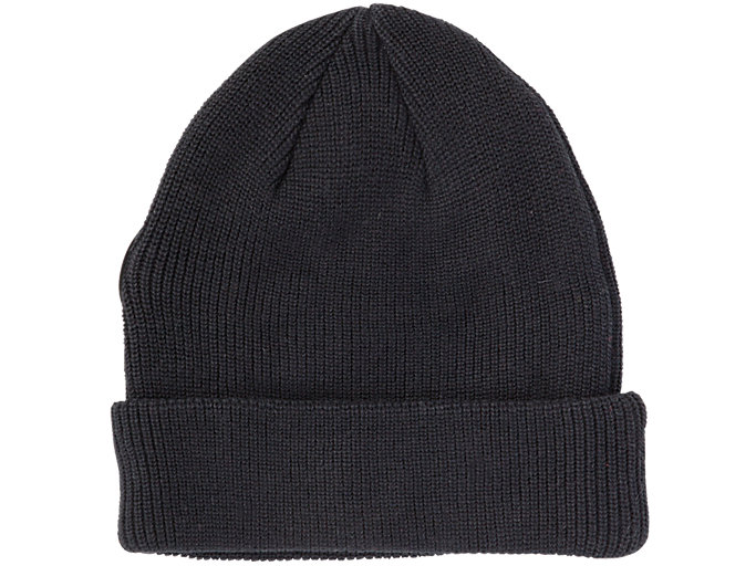 Back view of BEANIE, PERFORMANCE BLACK