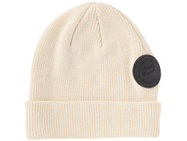 Front Top view of BEANIE, CREAM