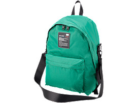 Front Top view of BACK PACK, GREEN