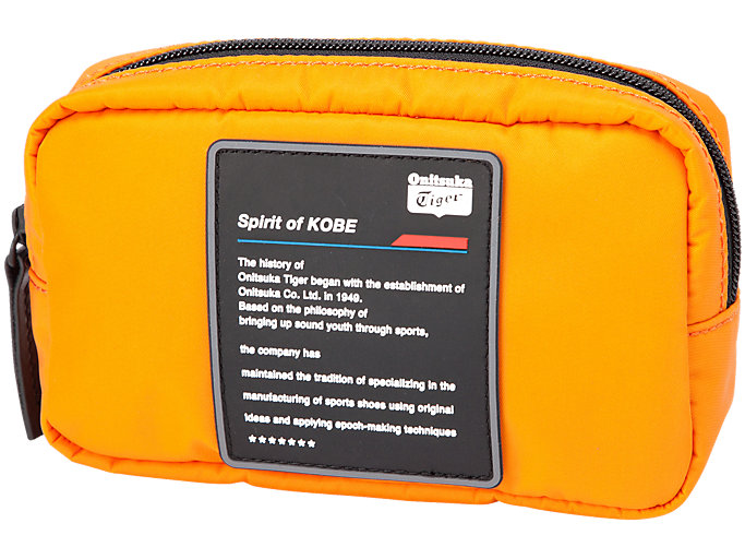 Front Top view of BEAUTY BAG, SHOCKING ORANGE