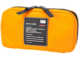 Front Top view of SMALL ORGANIZE CASE, SHOCKING ORANGE