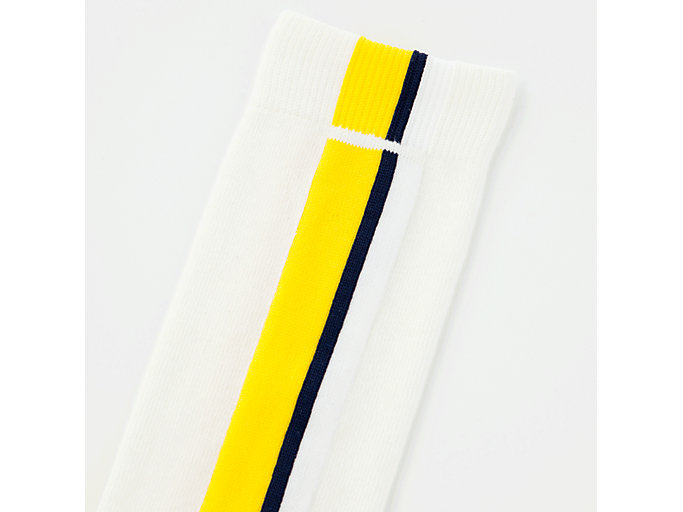 Alternative image view of MIDDLE SOCK, REAL WHITE/YELLOW