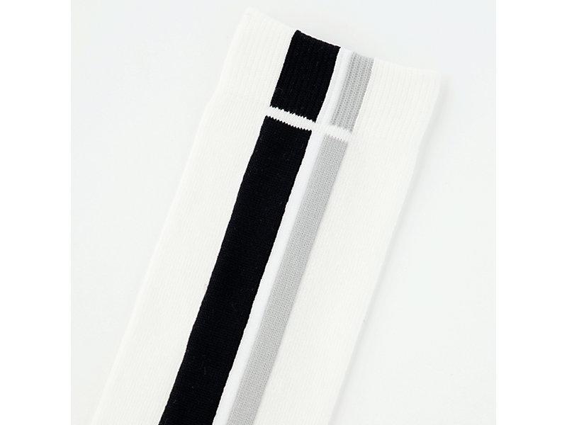 MIDDLE SOCK WHITE/BLACK 9 Z