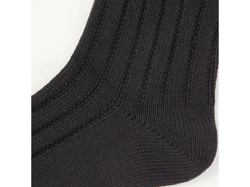 MIDDLE SOCK BLACK/WHITE 9 Z