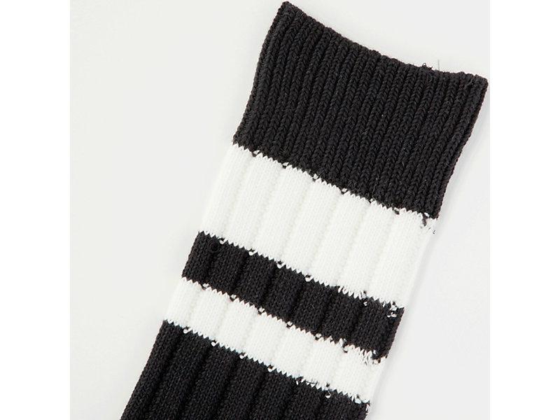 MIDDLE SOCK BLACK/WHITE 13 Z