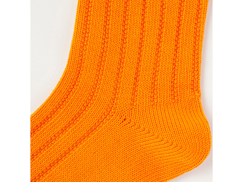 MIDDLE SOCK ORANGE/HEATHER GREY 9 Z