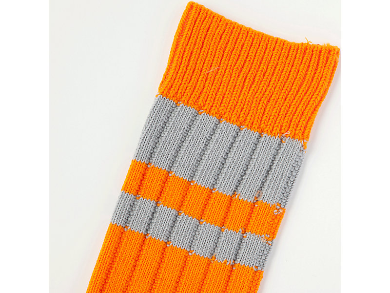 MIDDLE SOCK ORANGE/HEATHER GREY 13 Z