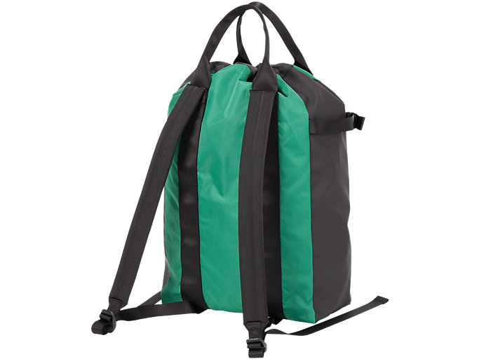 Back view of BACK PACK, GREEN
