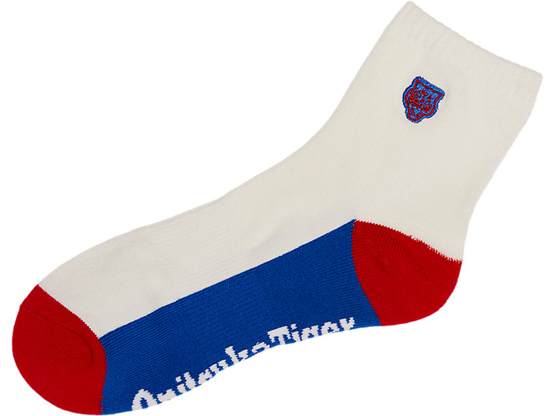 ANKLE SOCK WHITE/RED 5 Z