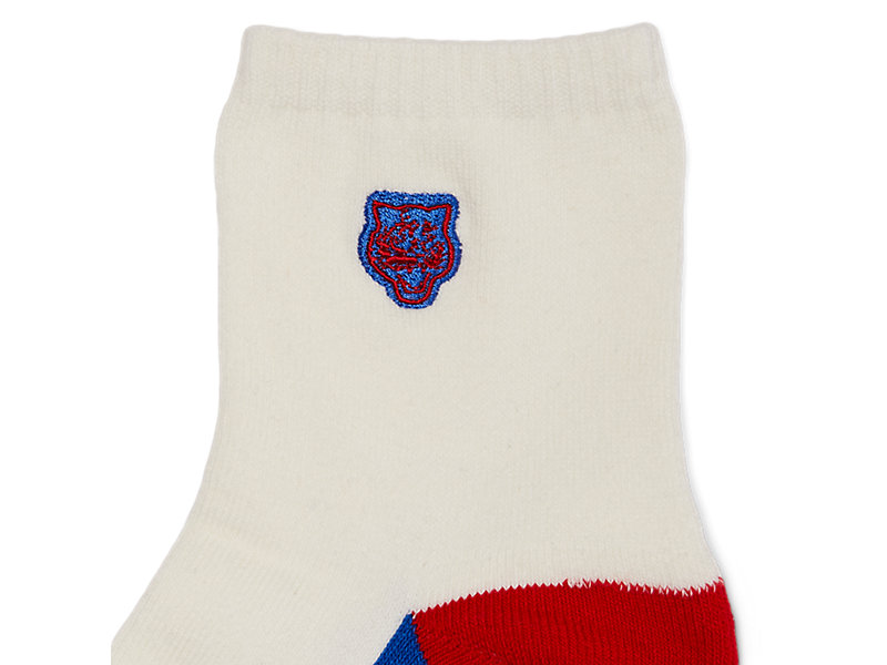 ANKLE SOCK WHITE/RED 9 Z