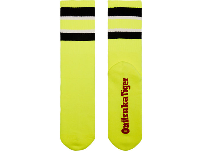 Front Top view of SHORT SOCK, SAFETY YELLOW/PERFORMANCE BLACK