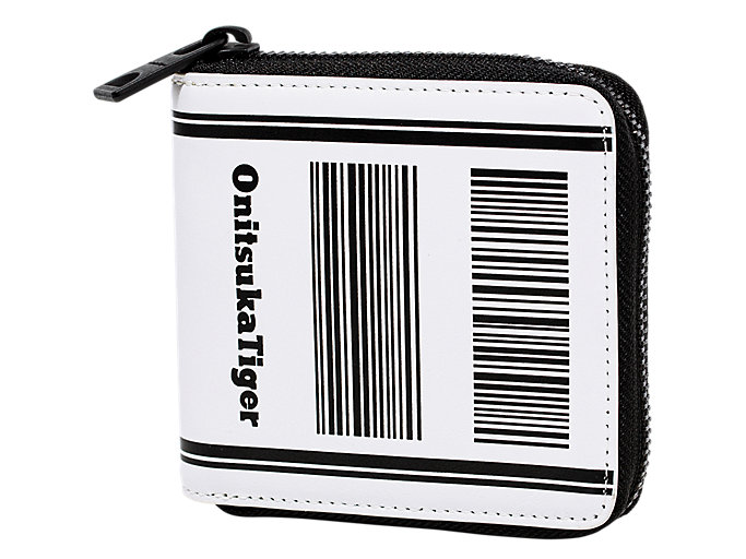 Front Top view of ZIP WALLET, REAL WHITE