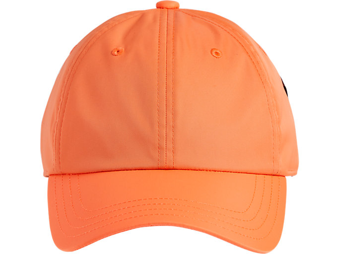 Front Top view of CAP, SHOCKING ORANGE
