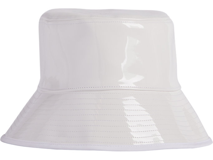 Front Top view of ENAMEL PLAIN HAT, REAL WHITE