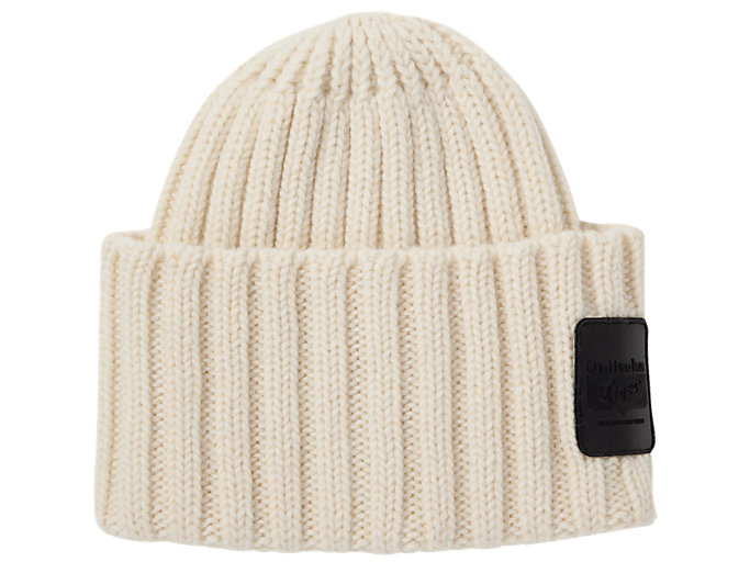 Front Top view of BEANIE, IVORY
