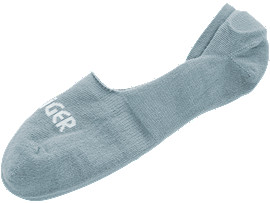 Front Top view of Logo NS Socks-Basic, LIGHT STEEL