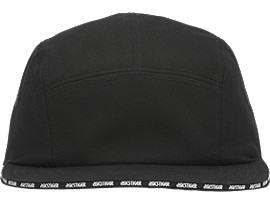 Front Top view of Gorra de paneles con logotipo, PERFORMANCE BLACK