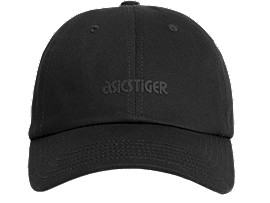 Front Top view of OP Dad Hat, PERFORMANCE BLACK