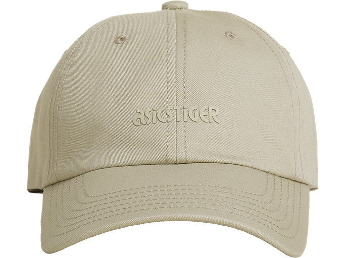 Front Top view of OP Dad Hat, FEATHER GREY