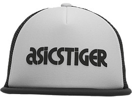 Front Top view of Logo Cap, GLACIER GREY