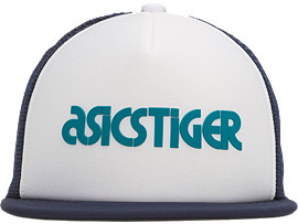 Front Top view of Logo Cap, TEAL BLUE