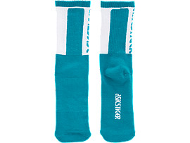 Front Top view of BL Crew Socks, TEAL BLUE