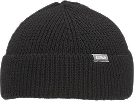 Front Top view of OP Beanie, PERFORMANCE BLACK