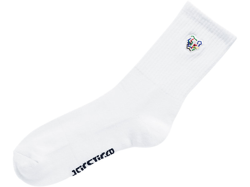 Digital Tiger Crew Socks BRILLIANT WHITE 5 Z