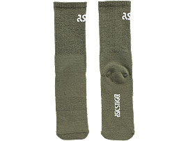 Front Top view of BL Crew Socks, MANTLE GREEN