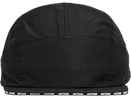 Front Top view of AHQ AT 5 PANEL HAT, PERFORMANCE BLACK