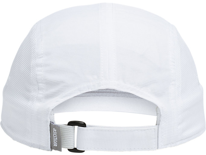 Back view of AHQ AT 5 PANEL HAT, BRILLIANT WHITE