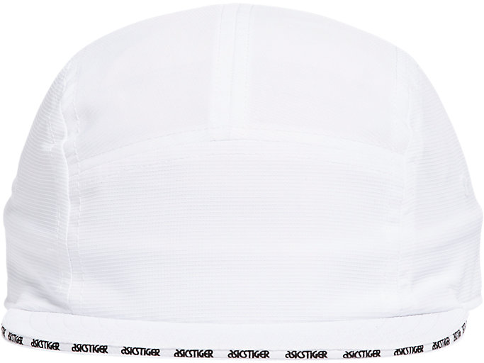 Front Top view of AHQ AT 5 PANEL HAT, BRILLIANT WHITE