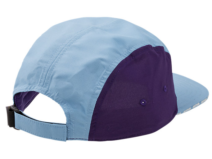 Back view of AHQ AT 5 PANEL CAP, DOLPHIN BLUE