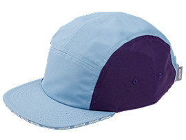 Front Top view of AHQ AT 5 PANEL CAP, DOLPHIN BLUE