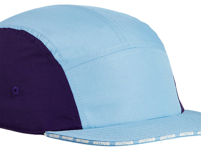 Side view of AHQ AT 5 PANEL CAP, DOLPHIN BLUE