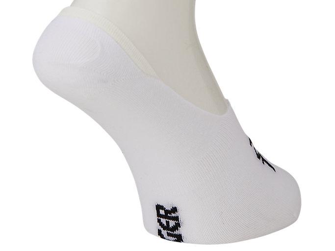 Back view of NO SHOW BASIC SOCKS, BRILLIANT WHITE/BLACK