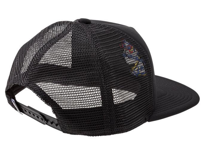 Back view of BACK MESH CAP, PERFORMANCE BLACK